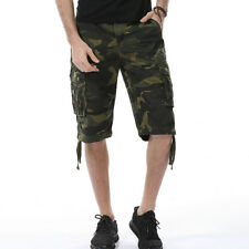Mens Fashion Cargo Shorts Army Combat Short Pants Cropped Trousers Camouflage