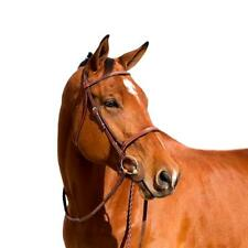 Horze Harrison Raised Fancy Stitched Snaffle Bridle with Raised Fancy Reins