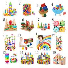 Kids Educational Wisdom Building Blocks Baby Rainbow Wooden Toy Early Learning