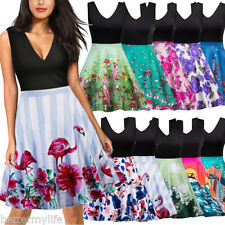 Womens 50s 60s Vintage Dress Floral Rockabilly Cocktail Party Swing ladies Dress