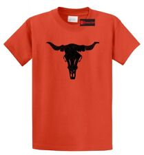 Distressed Longhorn T Shirt Country Cow Skull Graphic Tee