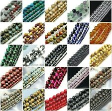 "Natural Gemstone loose Round beads 15"" 4mm 6mm, 8mm, 10mm, 12mm pick your color"