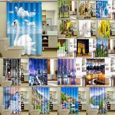 """Parrot Arch City Scenic 72/79"""" Bathroom Polyester Waterproof Shower Curtain Hook"""
