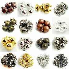 Strong Magnetic Jewelry Clasp silver Gold Copper Brass Gunmetal 5mm 6mm 8mm 9mm