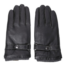 New Gloves Leather Sheepskin Men with Fur Palm Inside and Button Locker Fashion