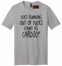 Running Out Of F Cardio Funny Mens V-Neck T Shirt Adult Humor Workout Gym Tee