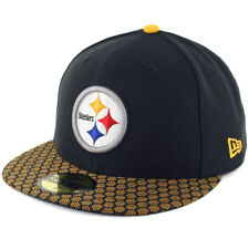 """New Era 5950 Pittsburgh Steelers Onfield 2017 """"Sideline"""" Fitted Hat (BK) NFL Cap"""