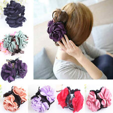 Fashion Lady Rose Flower Hair Clamp Plastic Claw Clip Hair Accessory Sanwood