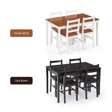 Set Of 5 Dining Table And Chairs Dinner Sets Kitchen Breakfast Dinette Room S7W6