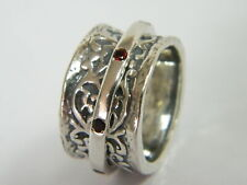 Unique Sterling Silver 925 Ring Garnet CZ Red Shablool Women's Ring Jewelry