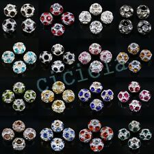 Wholesale Quality Czech Crystal Rhinestones Round Disco Ball Spacer Hole Beads