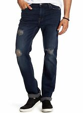 7 For All Mankind Men's Slimmy Slim Straight Leg Destroyed Jeans $215 msrp NWT