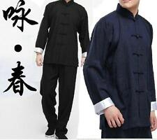 Chinese Kung Fu Mens Tang Suits Cotton Uniform Costume Coat M-3XL Fashion Retro*