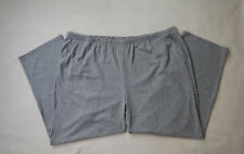 NEW White Stag Womens Pull On Knit Grey Pants Size 4X 26W 28W