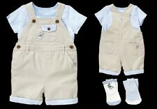 Gymboree Peter Rabbit Collection Baby Boy Outfit Overalls Top Shirt Socks NWT