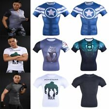 Men's Superhero Compression Short Sleeve T-shirts Cycling Gym Sports Jersey Tops