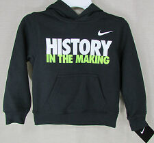 """NIKE Youth Boy's """"History"""" Pullover Hoodie Sweater Jacket Black Size 4 NEW NWT"""