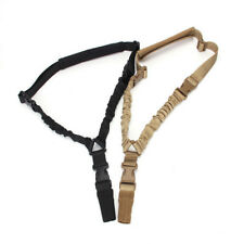 Tactical Hunting Gun Sling Adjustable 1 Single Point Bungee Rifle Sling Strap