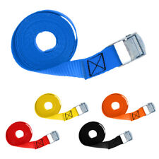 2.5m x 25mm Cam Buckle Tie Down Straps Polyester Luggage Load Cargo Lashing Belt