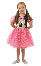 Kids Disney Pink Puffball Minnie Mouse Girls Fancy Dress Costume Party Outfit