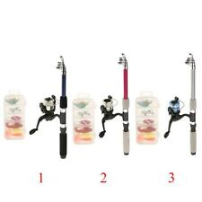 Telescopic Fishing Rod and Reel Travel Set with Soft Lures Baits Tackle Box