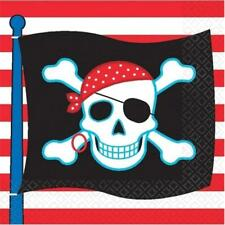 Pirate/Skull Birthday Party Supplies:Hats,Toys,Plates,Napkins,Coins,Cake/Cupcake