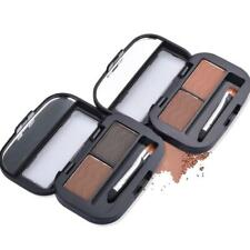 2 Colors Mix Natural Waterproof Eyebrow Powder Brow Makeup Shadow With Brush