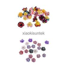 20Pcs 15mm Crystal Colorful Rose Flower Polymer Clay Beads Jewelry Finding Craft