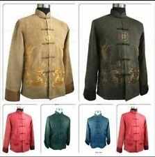 Hot! Chinese Men's Kung Fu Jacket Coat Dress Embroidery Dragon Size:M---XXXL