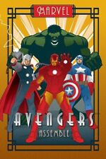 Marvel Avengers Assemble Art Deco Poster - NEW & OFFICIAL