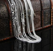 50pcs/lot 1mm Silver Plated Necklace Snake Chain 16-24inch Wholesale Bulk Price