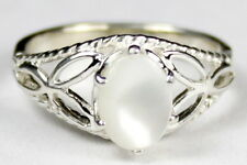 • SR137, Mother of Pearl, 925 Sterling Silver Ladies Ring -Handmade