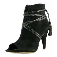 Vince Camuto Astan  Women  Peep-Toe Suede Black Ankle Boot