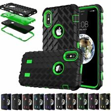 Shockproof Hybrid Gel Armor Rubber Tire Pattern Case Cover For iPhone X 8 8 Plus