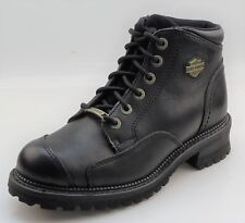 Harley-Davidson Sonia D84028 Womens Black Leather Cap Toe Boots
