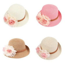 Fashion Beach Bonnet Lace Straw Flowers Sun Hat For Girls