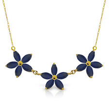 14k Solid Gold Necklace Sapphire 5 CTW