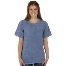 Slate Blue Pocket Tee 100% Organic Cotton Crew Neck Grown and Made in USA
