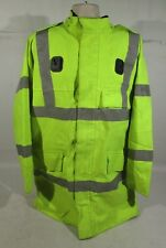 Ex Police Hi Vis Water Resistant Jacket With Silver Reflective Strips