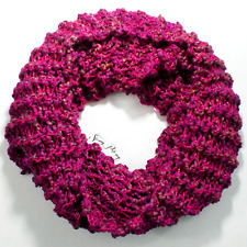 Knitted Karma Glitter Scarf - Color: Gum Drop & Crush
