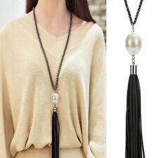 Women Exquisite Tassel Pendant Necklaces Long Chain Sweater Necklace Jewelry US