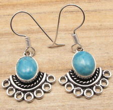 Genuine Gemstone Choice Earrings ! 925 Silver Plated Old Style Jewelry