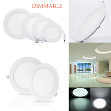 Dimmable Recessed LED Panel Light 6W 9W 12W 18W 21W Downlight Ceiling Fixtures