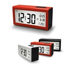 Digital Backlight LCD Display Table Alarm Clock Snooze Thermometer Time Date