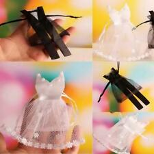 48pcs Veiling Wedding Bride Dress Groom Tuxedo Sweets Candy Bags Jewelry Pouches