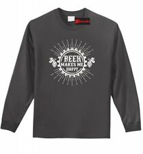 Beer Makes Me Hoppy Funny T Shirt Alcohol Brewery Beer Tee Shirt Z1