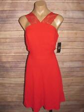 New York & Company Size 10 Cherry Red Lace Strap Cocktail Dress Fit & Flare NWT