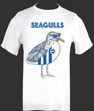 Brighton & Hove Albion FC Seagulls fan tshirt T Shirt [all sizes available]BHAFC
