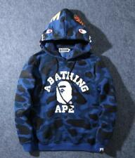*Newest Men's Camo Shark Hoodie Bape Monkey Pattern A Bathing Ape Casual Sweater