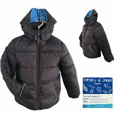 NEW Boys Winter Jacket Hooded Kids Padded Quilted Coat  AGE 4 5 6 7 8 9 10 11 12